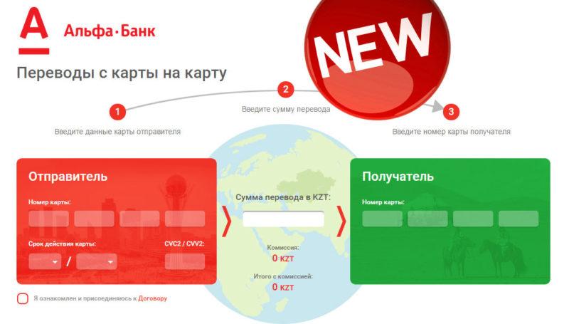 Переводы денег с карты на карту Альфа Банка